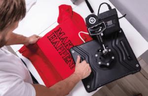 DST heat transfer label on everyday wear garments